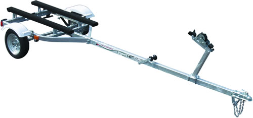 Small boat trailer design w/light suspension, folding, good support?